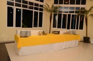 A mesa da janta.